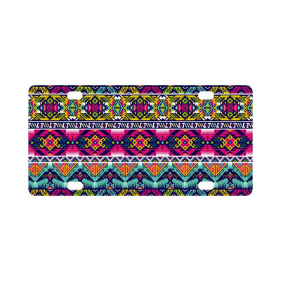 Indian Navajo Color Themed Design Print Classic License Plate-JTAMIGO.COM