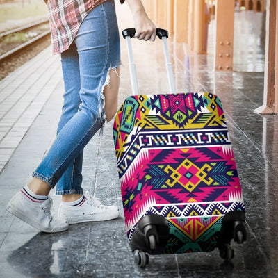Indian Navajo Color Themed Design Print Luggage Cover Protector