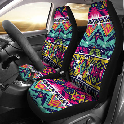 Indian Navajo Color Themed Design Print Universal Fit Car Seat Covers