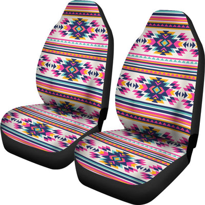 Indian Navajo Neon Themed Design Print Universal Fit Car Seat Covers