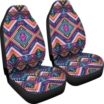 Indian Navajo Pink Themed Design Print Universal Fit Car Seat Covers