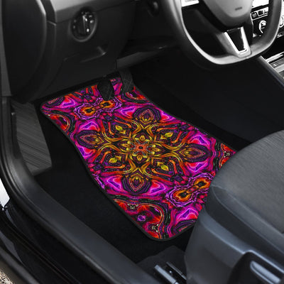 kaleidoscope Abstract Print Design Car Floor Mats