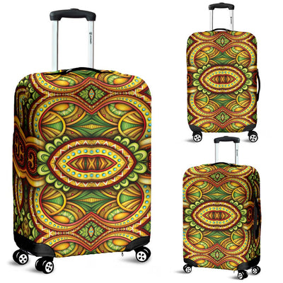 Kaleidoscope Colorful Print Design Luggage Cover Protector