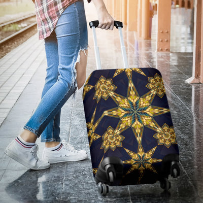 Kaleidoscope Gold Print Design Luggage Cover Protector