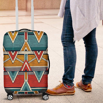 Kente Print African Design Themed Luggage Cover Protector