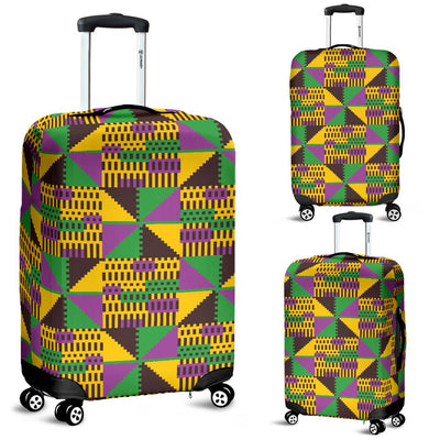 Kente Triangle Design African Print Luggage Cover Protector