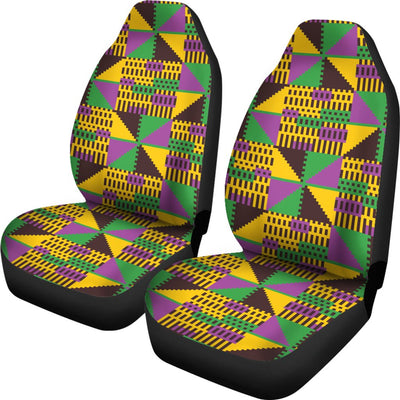 Kente Triangle Design African Print Universal Fit Car Seat Covers