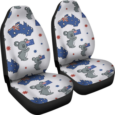 Koala Australia Day Themed Design Universal Fit Car Seat Covers