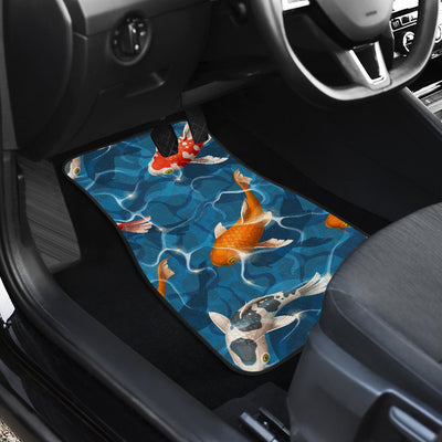 Koi Carp Water Design Themed Print Car Floor Mats