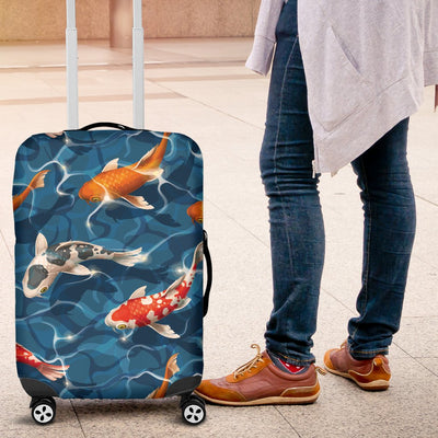 Koi Carp Water Design Themed Print Luggage Cover Protector