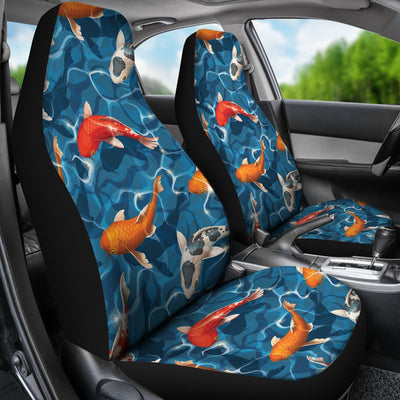 Koi Carp Water Design Themed Print Universal Fit Car Seat Covers