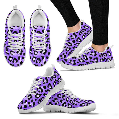 Leopard Purple Skin Print Women Sneakers Shoes