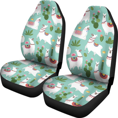 Llama with Cactus Themed Print Universal Fit Car Seat Covers