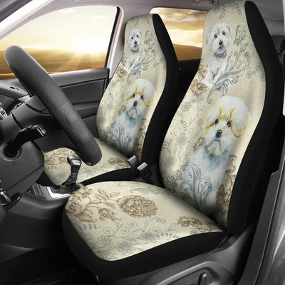 Maltese Design No1 Print Universal Fit Car Seat Covers