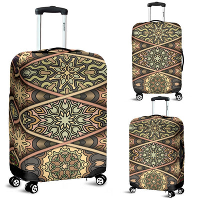 Mandala Motif Themed Design Print Luggage Cover Protector