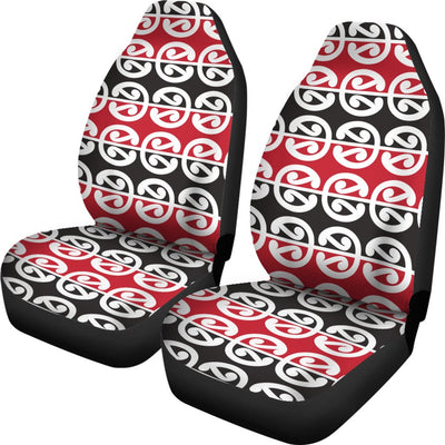 Maori Classic Themed Design Print Universal Fit Car Seat Covers
