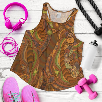 Maori Ornament Design Print Women Racerback Tank Top