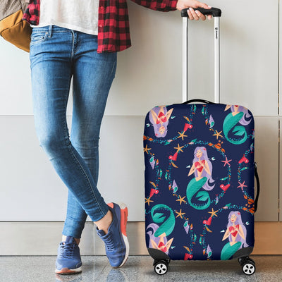 Mermaid Girl Cute Design Print Luggage Cover Protector