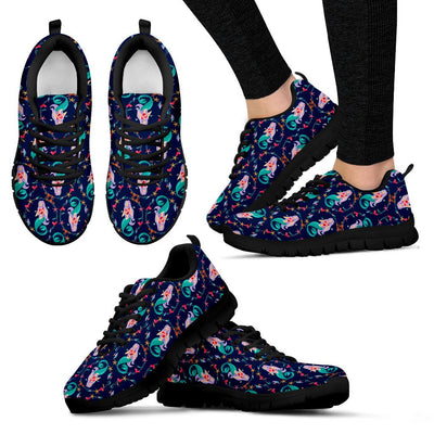 Mermaid Girl Cute Design Print Women Sneakers Shoes