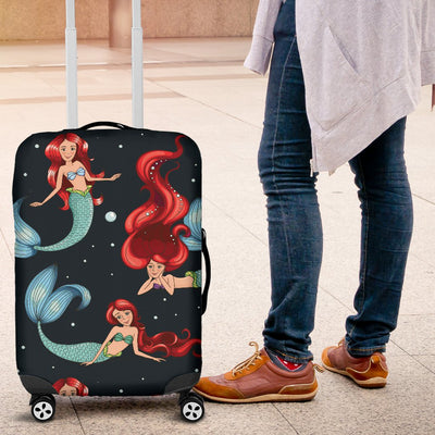 Mermaid Girl Themed Design Print Luggage Cover Protector
