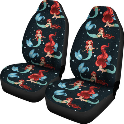 Mermaid Girl Themed Design Print Universal Fit Car Seat Covers
