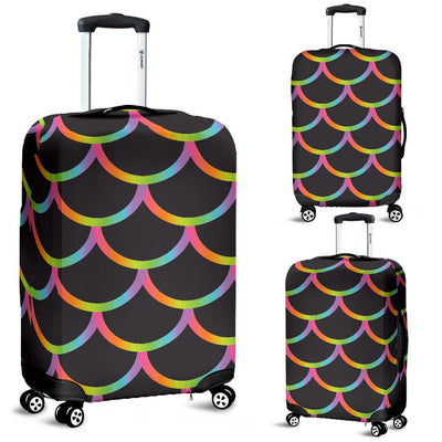 Mermaid Tail Rainbow Design Print Luggage Cover Protector