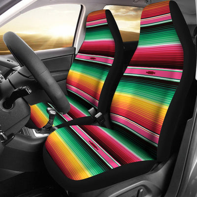 Mexican Blanket Classic Print Pattern Universal Fit Car Seat Covers
