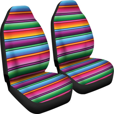 Mexican Blanket Colorful Print Pattern Universal Fit Car Seat Covers