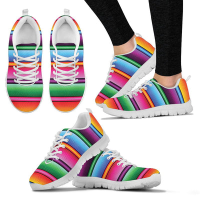 Mexican Blanket Colorful Print Pattern Women Sneakers Shoes