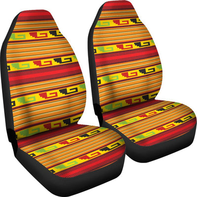 Mexican Blanket Ornament Print Pattern Universal Fit Car Seat Covers