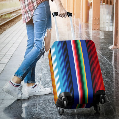 Mexican Blanket Stripe Print Pattern Luggage Cover Protector