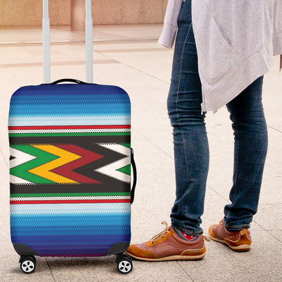 Mexican Blanket ZigZag Print Pattern Luggage Cover Protector