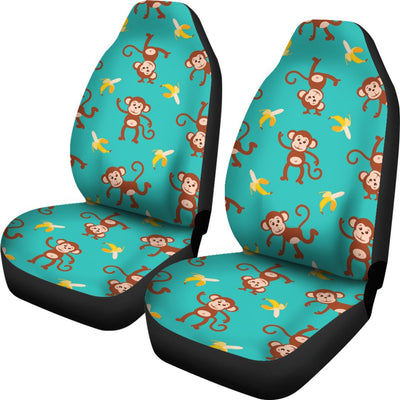 Monkey Banana Design Themed Print Universal Fit Car Seat Covers