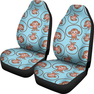 Monkey Cute Design Themed Print Universal Fit Car Seat Covers