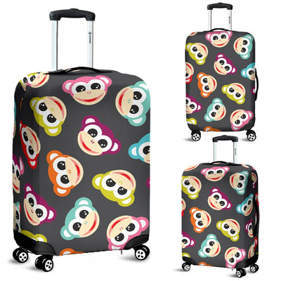 Monkey Head Design Themed Print Luggage Cover Protector