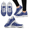 Music Note Blue Themed Print Women Sneakers Shoes