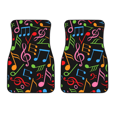 Music Note Colorful Themed Print Car Floor Mats