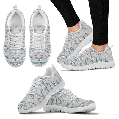 Narwhal Pattern Print Women Sneakers Shoes