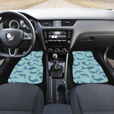 Narwhal Themed Print Car Floor Mats