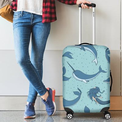 Narwhal Themed Print Luggage Cover Protector