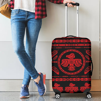 Native American Eagle Themed Print Luggage Cover Protector