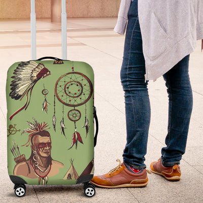 Native Indian Themed Design Print Luggage Cover Protector
