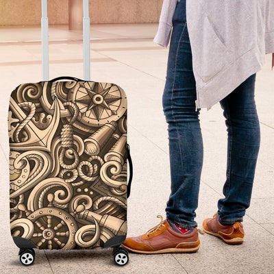 Nautical Tattoo Design Themed Print Luggage Cover Protector