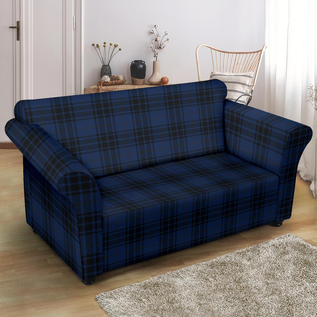 Picture of: Navy Blue Tartan Plaid Pattern Loveseat Couch Slipcover Jtamigo Com