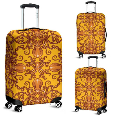 Octopus Background Design Print Luggage Cover Protector