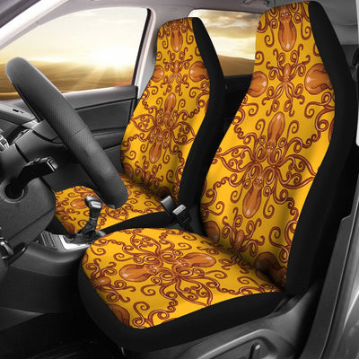 Octopus Background Design Print Universal Fit Car Seat Covers