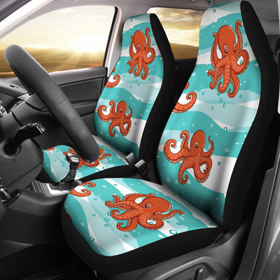 Octopus Cute Design Print Themed Universal Fit Car Seat Covers