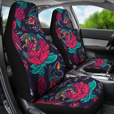 Old School Tattoo Print Universal Fit Car Seat Covers