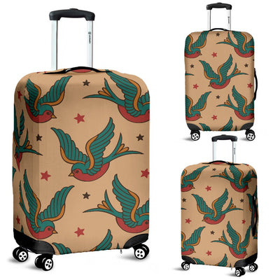 Old School Tattoo Swallow Design Luggage Cover Protector