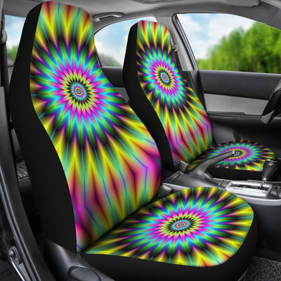 Optical illusion Flower Rainbow Style Universal Fit Car Seat Covers